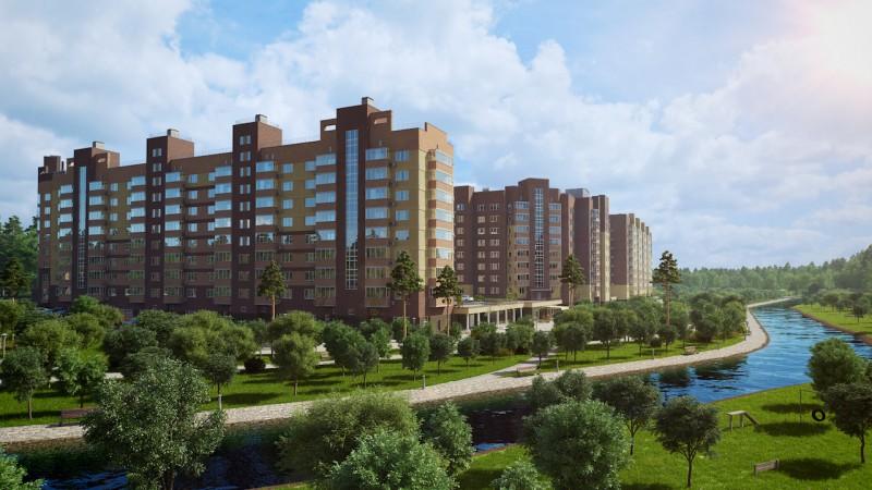Комплекс 5-8 этажных домов с подземной автостоянкой
